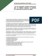 políticas educativas México 1934-2006