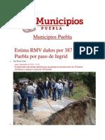 23-09-2013 Municipios Puebla - Estima RMV daños por 387 mdp en Puebla por paso de Ingrid