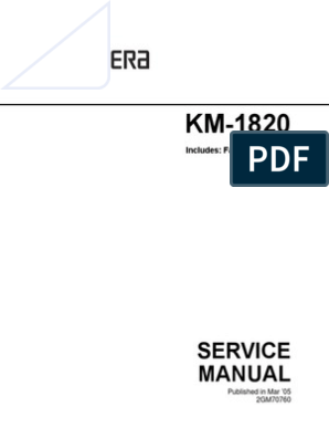 KM-1820 Service Manual | Image Scanner | Compact Cassette