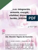 Presentación Yoga Maratón Yóguica Asunción.
