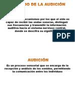 AUDICIÓN Y EQUILIBRIO. Clase