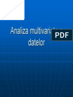 Analiza Multivariata a Datelor