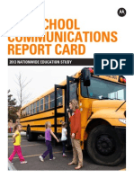 K-12 School Communications Report Card