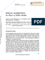 Social Marketing - Its Place in Public Health