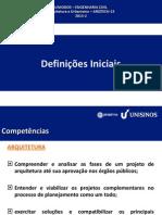 Arq&Urb 2011.2 - AULA 1- Definições Iniciais
