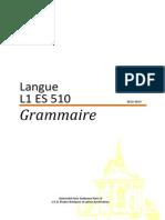 Brochure - L1ES510 Grammaire