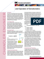 Densitometer Intallation and Operation