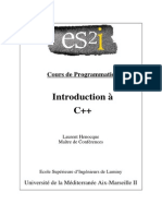 Introduction Au C++