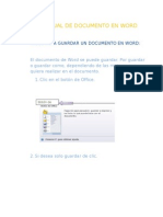 Pasos Para Guardar Un Documento en Word