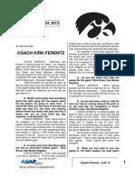 Coach Ferentz - 9 24 13