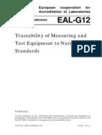 EA-4-07 - Trasabilitatea Masurarii Si Echipamente
