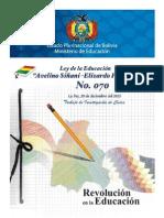 Ley Avelino Siñani y Elizardo Perez 070 (Sinopsis Estructural)
