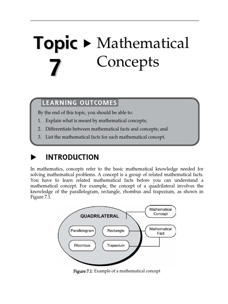 15152907 Topic 7 Mathematical Concepts | Triangle | Fraction ...