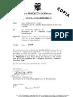 Proyecto Ley Derogatoria Literal e art. 139 Ley de Transito