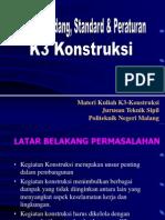 Bab. 1 , Uu, Standar & Peraturan k3_260910