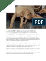 23/09/13 poligrafodigital Aplicará SSO 8 mil vacunas antirrábicas