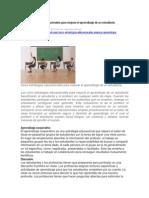 Cinco Estrategias Educacionales Para Mejorar El Aprendizaje de Un Estudiante