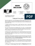 Voting and Texas Politics