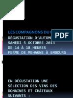 DÉGUSTATION D'AUTOMNE