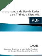 Breve Manual de Uso de Redes Sociales Para el Trabajo a Distancia
