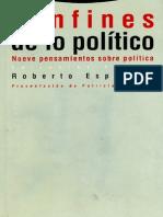 Confines de Lo Politico- Roberto Esposito