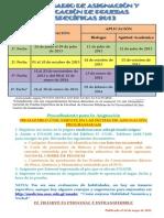 Calendario de Pruebas Especificas 2013
