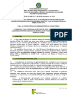 Edital 280-2013_Manifestacao de Interesse_2a CHAMADA PSCT 2013.2 - CAB-CAJ-CG-GUA-JP-MON-PAT-PRI