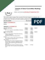 New Zealand Select Committee Meetings for week beginning September 23, 2013