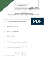 Teste de Matemática - 9º Ano - Nov 08