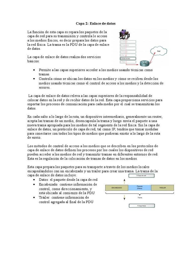 Capa 2. y capa 3