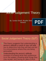 Social Judgement Theory (1)