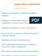 Pharmacopoeial Assays for Quality. Oxygen Flask Method
