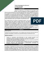 Programa Catedras Libres Antropologia de La Educacion 2013