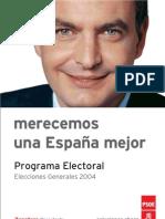 Programa Electoral PSOE 2004
