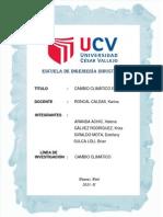 CAMBIO CLIMÁTICO (redacción universitaria)