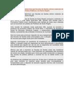 Promotoria Pública determina que Escolas de Samba retirem materiais de Prédios Públicos