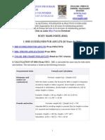 BMI Formulas