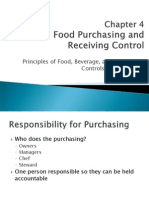 Chapter 4 Food Purchasing and Receiving Control