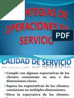 Estrategias de Operaciones en Servicio