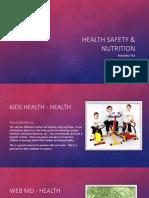 health saftey  nutrition