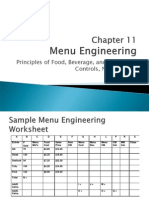 Chapter 11 Menu Engineering and Analysis