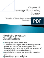 Chapter 13 Beverage Purchasing Control