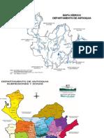 Mapa Politico Antioquia