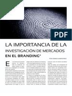 La importancia de la Investigación de Mercados en el Branding