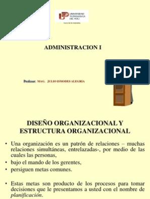 Utp Diseño Y Estructura Organizacional Toma De Decisiones