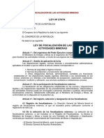 Ley de Fiscalizacion de Actividades Mineras
