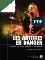 Les Artistes en Danger Par La Psychiatrie - CCDH