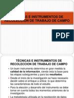 Tecnicas e Instrumentos de Investigacion
