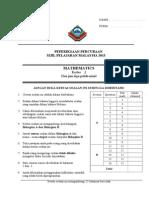 SPM MATHS TRIAL PAPER 2 SPI  2013