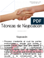Tecnicas de Negociacion Version Blog